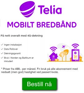 internett på hytta med telia mobilt bredbånd